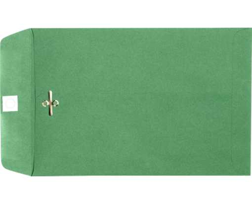 10 x 13 Clasp Envelopes Holiday Green
