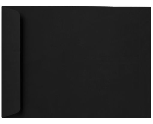 10 x 13 Open End Envelopes Midnight Black