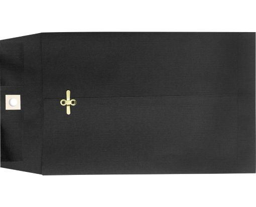 6 x 9 Clasp Envelopes Midnight Black