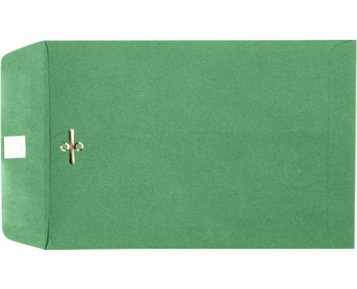 6 x 9 Clasp Envelopes Holiday Green