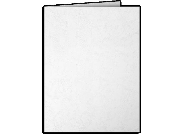 9 x 12 Presentation Folders White Marble