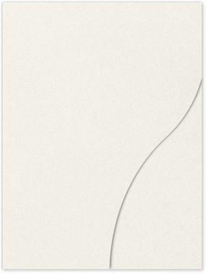9 x 12 Presentation Folders Vanilla Bean White