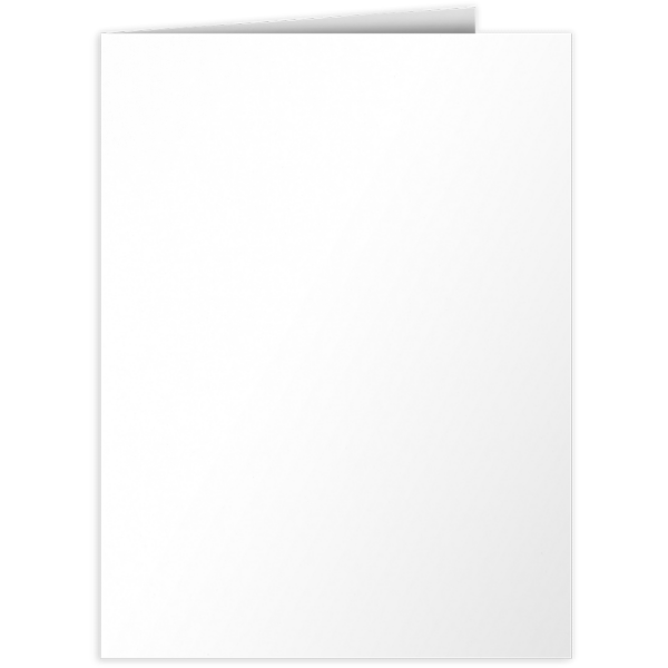 9 x 12 Presentation Folders Bright White - 100% Recycled