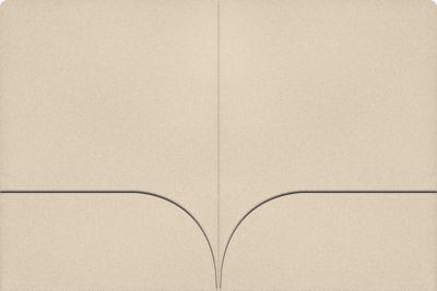 9 x 12 Presentation Folders Sandcastle Natural