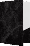 9 x 12 Presentation Folders Black Marble