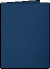 9 x 12 Presentation Folders Inkwell Blue