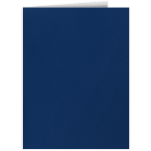 9 x 12 Presentation Folders Dark Navy Blue
