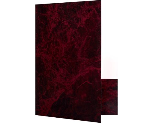 9 x 12 Presentation Folders Rosewood Marble