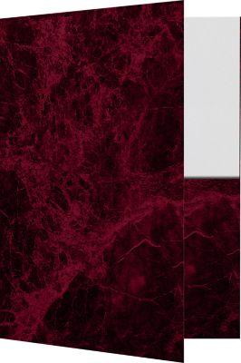 9 x 12 Presentation Folders Rosewood Marble