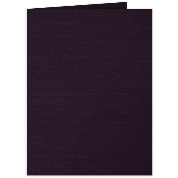 9 x 12 Presentation Folders Fig Purple