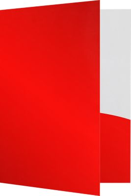 9 x 12 Presentation Folders Cherry Red