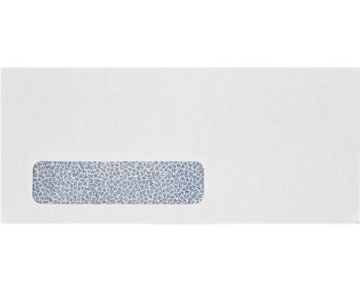 #10 Window Envelopes (4 1/8 x 9 1/2) 24lb. Bright White (Laser Safe) w/ Security Tint