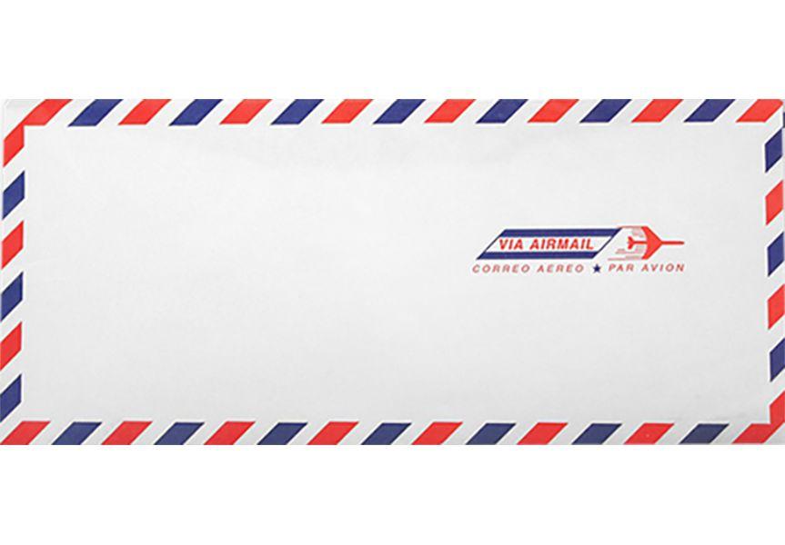 Airmail White #10 Envelopes | Regular | (4 1/8 X 9 1/2
