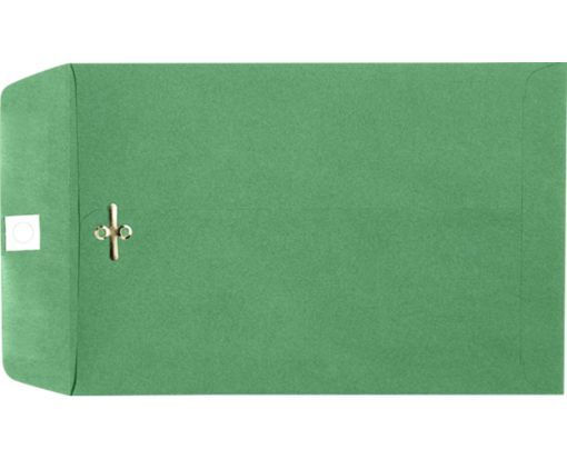 9 x 12 Clasp Envelopes Holiday Green