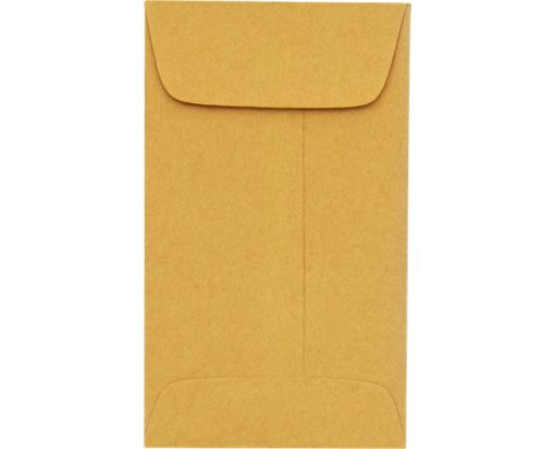 #6 Coin Envelopes (3 3/8 x 6) 24lb. Brown Kraft