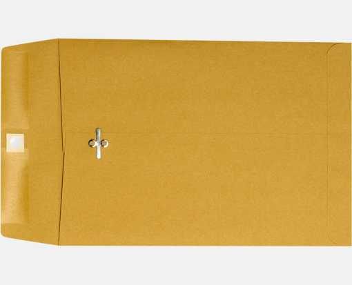 10 x 13 Clasp Envelopes 28lb. Brown Kraft