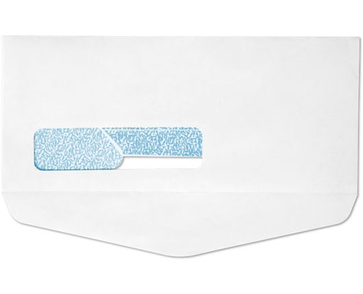#10 Window Bottom Flap Envelopes White w/Security Tint