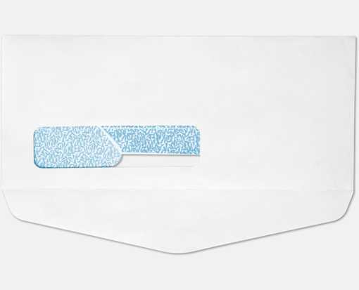 #10 Window Bottom Flap Envelopes 24lb. White w/ Security Tint