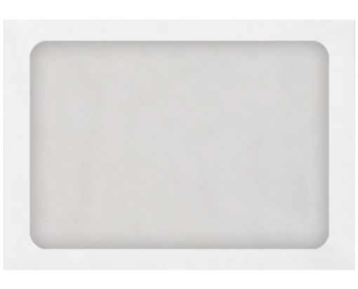 A7 Full Face Window Envelopes 28lb. White