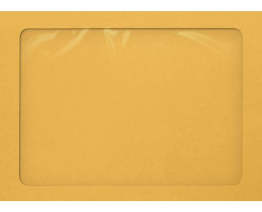 A7 Full Face Window Envelopes 28lb. Brown Kraft