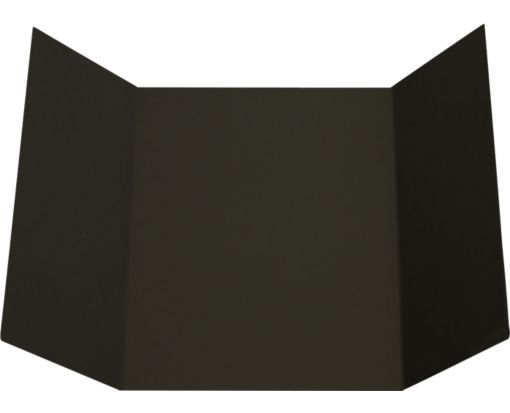 A7 Gatefold Invitation (5 x 7) Black Linen