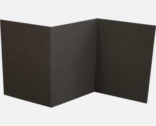 A7 Z-Fold Invitation (5 x 7) Black Linen