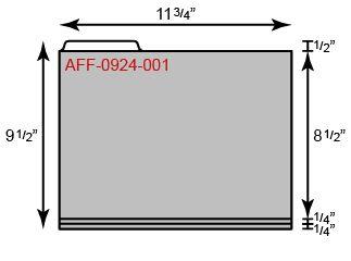 "File Folder - Standard w/ Left Tab (11 3/4"" x 9 1/2"")"