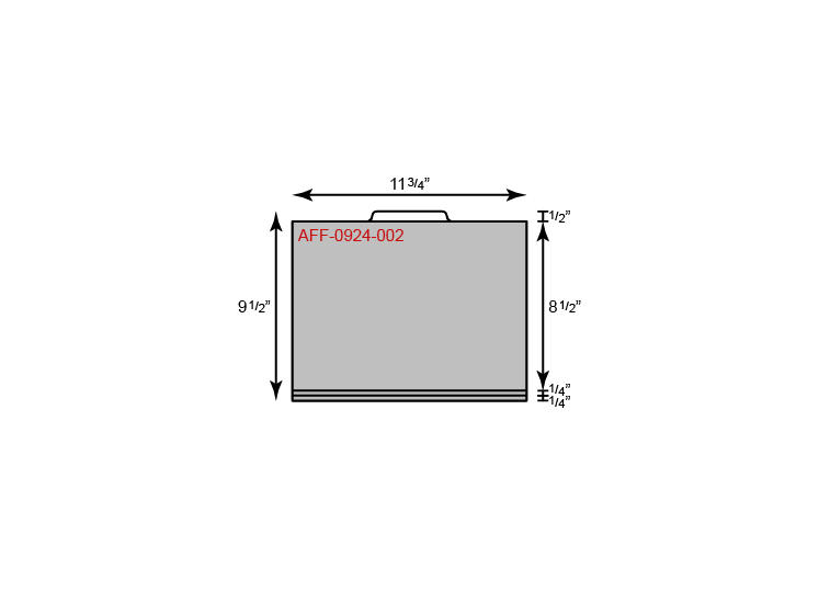 "File Folder - Standard w/ Center Tab (11 3/4"" x 9 1/2"")"