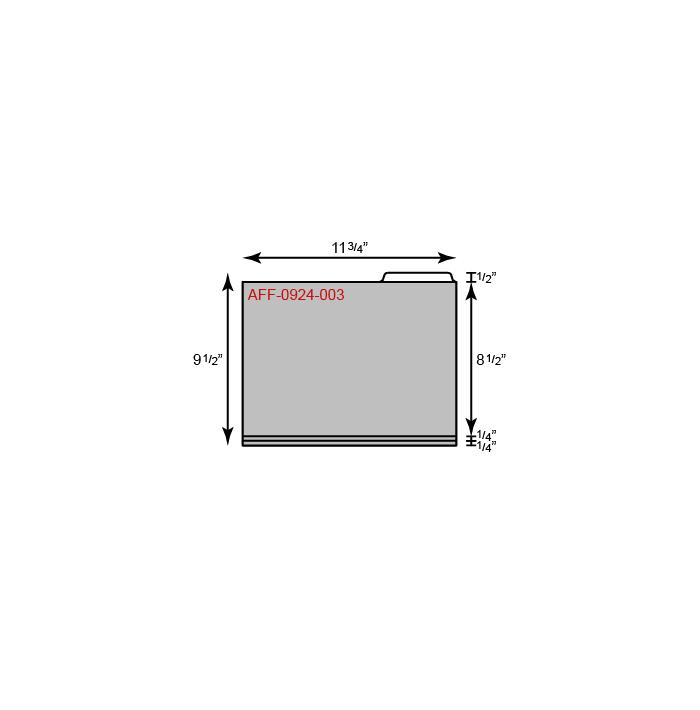 """File Folder - Standard w/ Right Tab (11 3/4"""" x 9 1/2"""")"""