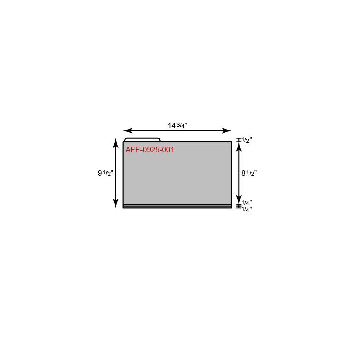 "File Folder - Legal Size w/ Left Tab (14 3/4"" x 9 1/2"")"