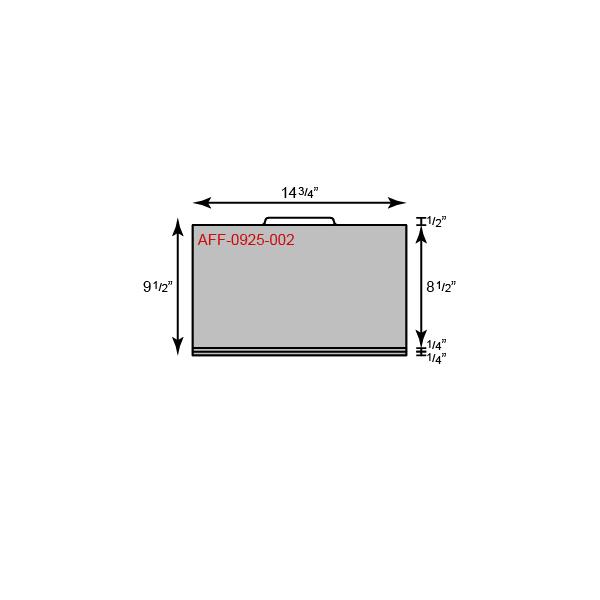 "File Folder - Legal Size w/ Center Tab (14 3/4"" x 9 1/2"")"