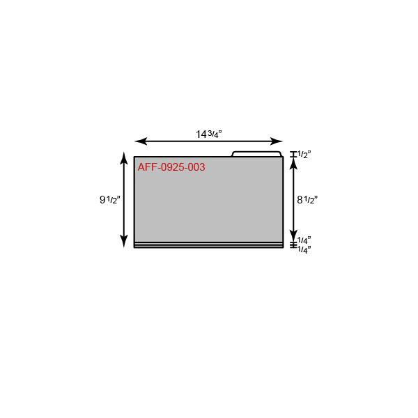 "File Folder - Legal Size w/ Right Tab (14 3/4"" x 9 1/2"")"