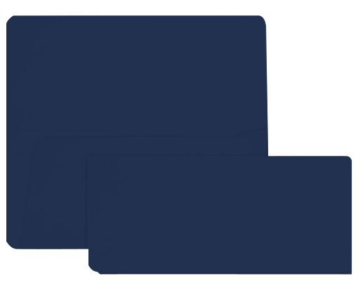 Airline Ticket (3 7/8 x 8 1/2) Navy