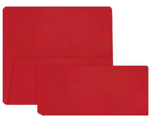 Airline Ticket (3 7/8 x 8 1/2) Ruby Red