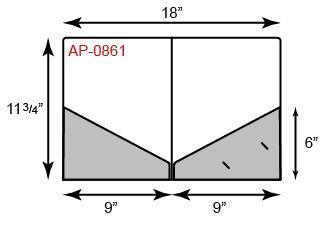 9 x 11 3/4 Presentation Folders - Diagonal Pockets