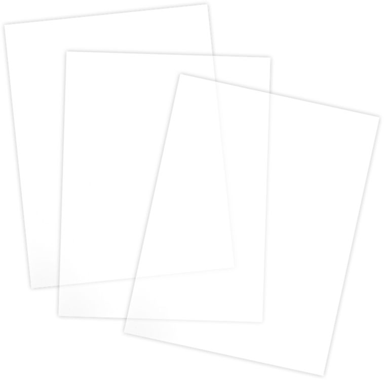 6 x 8 Acetate Sheets Clear