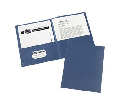 9 x 12 Presentation Folders Dark Blue