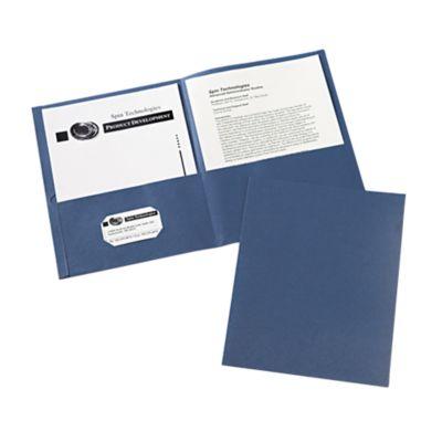 9 x 12 Presentation Folders Dark Blue