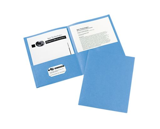 9 x 12 Presentation Folders Light Blue