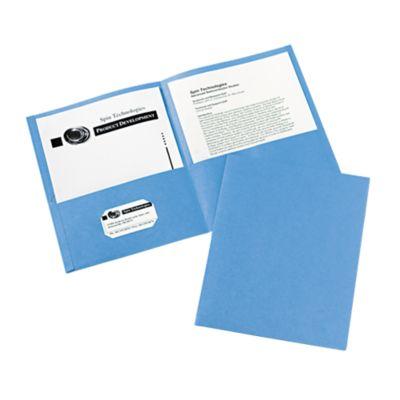 9 x 12 Presentation Folders Light Blue