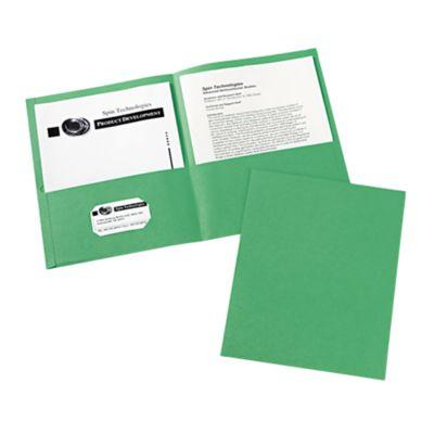 9 x 12 Presentation Folders Green