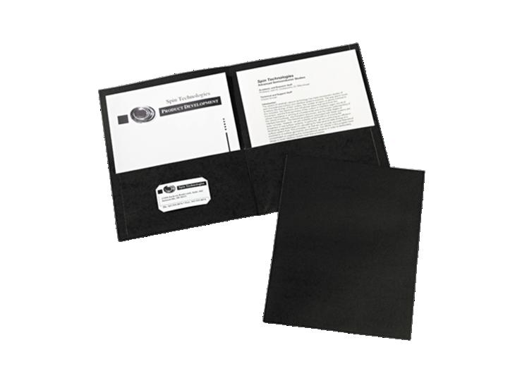 9 x 12 Presentation Folders Black