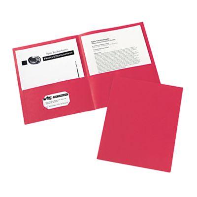 9 x 12 Presentation Folders Red