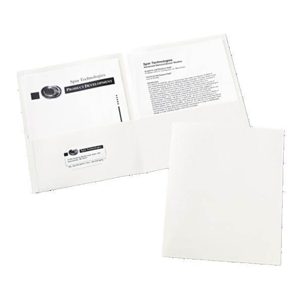 9 x 12 Presentation Folders White