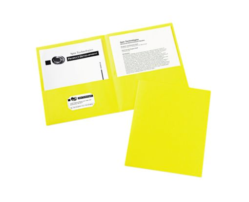 9 x 12 Presentation Folders Yellow