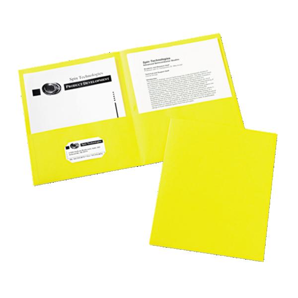 9 x 12 Presentation Folders Yellow