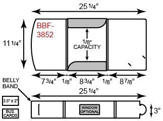 "8.75"" x 11.25"" Package Folders w/ Belly Band"