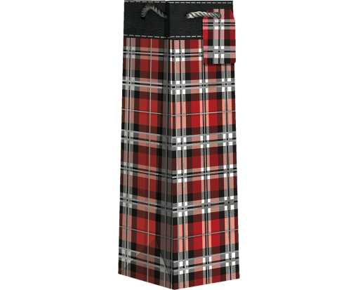 Bottle (4 1/2 x 14 x 4 1/2) Gift Bag Authentic Plaid