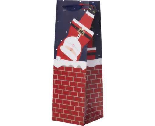 Bottle (4 1/2 x 14 x 4 1/2) Gift Bag Santa's List