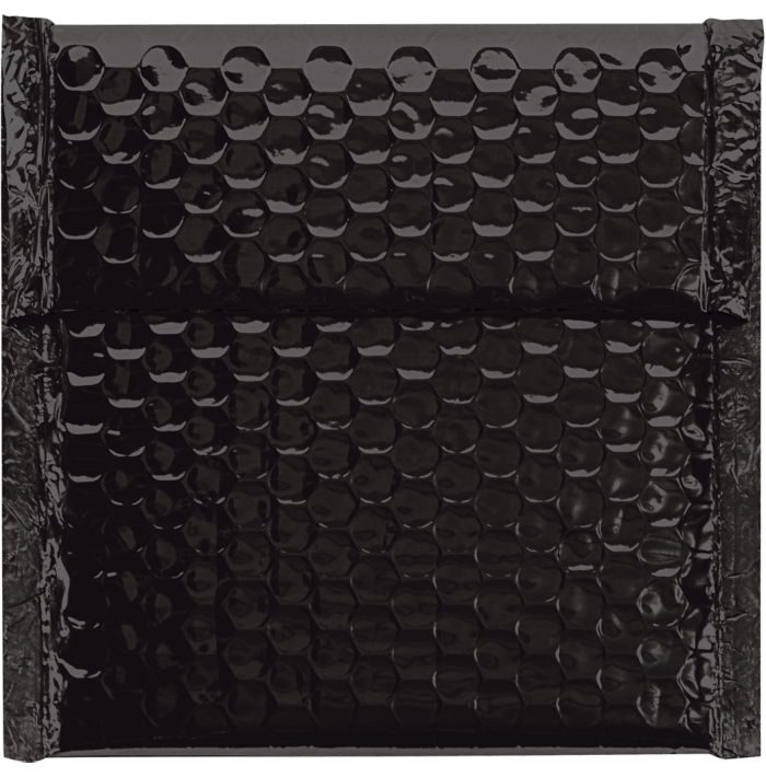 7 x 6 3/4 Glamour Bubble Mailers Black